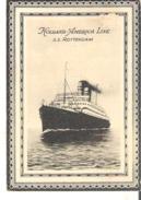 Menu Holland America Line  S. S. Rotterdam  Mardi, Le 5 Aout 1924 - Menus