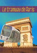 """FRANCE 2006 : Encart 1er Jour """" LE TRAMWAY DE PARIS / TOUR EIFFEL"""". N° YT 3995. Voir Les 2 Scans. - Tramways"""