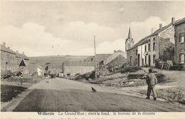 Willerzie - Grand Rue Avec Dans Le Fond Le Bureau Des Douanes -  Personnage - Arduenna Pour Melle M. Bruck - Gedinne