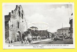 CPA 66 FORMIGUERES Place De L'Eglise CAFE Des PYRENNEES ( Cliché Peu Commun ) - Autres Communes