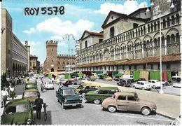 Emilia Romagna-ferrara Piazza Trento E Trieste Veduta Animatissima Diverse Auto D'epoca Anni 50 Fiat Mercato - Ferrara