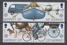 SERIE NEUVE DE GUERNESEY - EUROPA 1988 : TRANSPORTS ET COMMUNICATIONS N° Y&T 419 A 422 - Europa-CEPT