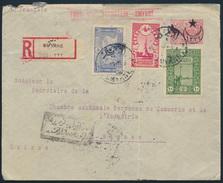 Türkei Ganzsache U 30 R-Brief ZUF 631+632A+634 Smyrna Izmir Na. Biel Schweiz - Sonstige - Europa