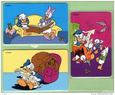 New Zealand - Chipcards - 1999 Donald Duck Part V - Donald & Daisy Set (3) - Mint - Cards 014/16 - Neuseeland
