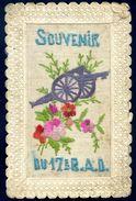 Cpa Carte Brodée Souvenir Du 17è R.A.D.  SEP17-20 - Brodées