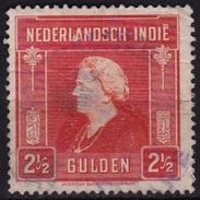 Ned. Indië: KONINKLIJKE MARINE  In Violet Op 1945 Koningin Wilhelmina 2½ Gulden NVPH 316 - Indes Néerlandaises