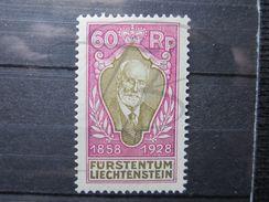 VEND BEAU TIMBRE DU LIECHTENSTEIN N° 81 , X !!! - Liechtenstein