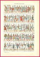 Costume Militaire (Recto-verso) Larousse 1907 - Vieux Papiers