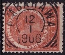 Ned. Indië: Superbe Vierkantstempel AMBARAWA Op 1903-1908 Koningin Wilhelmina 30 Ct Oranjebruin NVPH 56 - Indes Néerlandaises