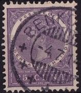 Ned. Indië: BENKOELEN (122) Op 1903-1908 Koningin Wilhelmina 25 Ct Violet NVPH 55 - Indes Néerlandaises
