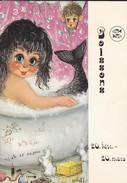 RARE---ASTROLOGIE---POISSONS--illustration MICHEL THOMAS--voir 2 Scans - Astrology