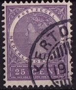 Ned. Indië: KERTOSONO (255) Op 1903-1908 Koningin Wilhelmina 25 Ct Violet NVPH 55 - Indes Néerlandaises