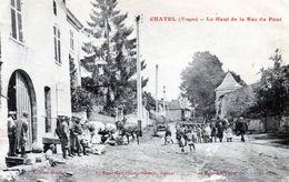 Chatel. Le Haut De La Rue Du Pont. (Animée). - Chatel Sur Moselle