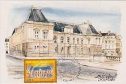 Carte Maximum RENNES - Parlement De Bretagne (cachet Premier Jour Du 25/03/2000) - Cartes-Maximum