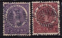 Ned. Indië: PEKALONGAN (553) Op 1903-1908 Koningin Wilhelmina 25 Ct En 50 Ct NVPH 56-57 - Indes Néerlandaises