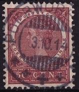 Ned. Indië: Superbe POERWOREDJO (594) Op 1903-1908 Koningin Wilhelmina 50 Ct Roodbruin NVPH 57 - Nederlands-Indië