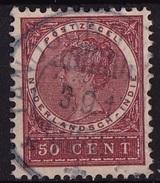 Ned. Indië: TANDJONGPRIOK (808) Op 1903-1908 Koningin Wilhelmina 50 Ct Roodbruin NVPH 57 - Indes Néerlandaises