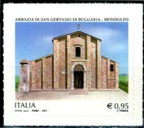 ITALIA / ITALY 2017** - Abbazia Di San Gervaso Di Bulgaria - Mondolfo - 1 Val. Autoadesivo Come Da Scansione. - 6. 1946-.. Repubblica