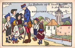 Illustrateur HANSI- COLMAR - La Badinette Est Le Biscuit Feuilleté ... La Biscuiterie Alsacienne Série 40 - Hansi