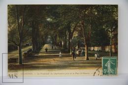 Old Postcard France - Chartres - La Promenade Des Charbonniers Prise De La Place St. Maurice - Animated - Posted 1910 - Chartres