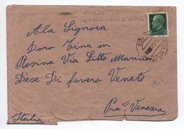 5 SEPTEMBRE 1943 - OCCUPATION ITALIENNE En FRANCE - RARE ENVELOPPE De MENTONE (MENTON) Avec TàD POSTA MILITARE - 9. WW II Occupation (Italian)