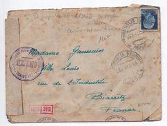 1941 - OCCUPATION ITALIENNE En FRANCE - RARE ENVELOPPE De MENTONE (MENTON) Avec TàD De VENTIMIGLIA + CENSURE (cf Descr) - 9. Besetzung 2. WK (Italien)