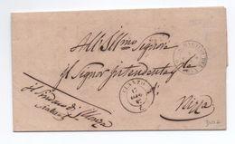 1857 - LETTRE EN FRANCHISE De ILONSE Pour NICE Par CLANS & SAINT MARTIN DU VAR - CACHETS A DATE SARDES - ALPES MARITIMES - Marcophilie (Lettres)