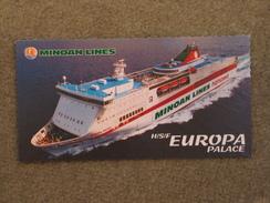 MINOAN OFFICIAL EUROPA PALACE - Fähren