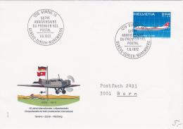 50ème Anniversaire Du Premier Vol Postal Genève-Zürich-Nuremberg - 1.6.1972 - Poste Aérienne