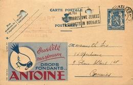 BELGIQUE ENTIER POSTAL PUBLIBEL  ANTOINE - Stamped Stationery