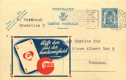 BELGIQUE ENTIER POSTAL PUBLIBEL  GIBBS 1943 - Entiers Postaux