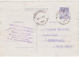 Carte Commerciale 1945 / Entier Iris 1 F 20 / Albert MICHELOT / Minoterie & Distillerie / 21 Fauverney / Côte D' Or - Autres