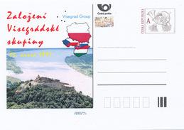 Tschech. Rep. / Ganzsachen (Pre2016/04) Gründung Der Visegrad-Gruppe (1991), 25. Jahrestag; Plintenburg - Flaggen