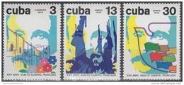 1978.35 CUBA 1978 MNH Ed.2483-85. XXV ANIV DEL ASALTO AL CUARTEL MONCADA. ATTACK BARRACKS MONCADA. - Cuba