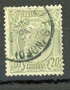 BELGIQUE  LEOPOLD II N° Yvert 47 Obli - 1869-1883 Leopold II