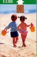 TARJETA TELEFONICA DE CHILE. Niño Balde - Children (4rd Issue) 06/97. CL-CTC-0030A (299) - Chile