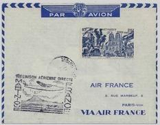 !!! 1ERE LIAISON AERIENNE DIRECTE MARTINIQUE - FRANCE PAR AIR FRANCE 1947 - Postmark Collection (Covers)