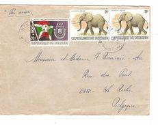 République Burundi Lettre Par Avion TP Eléphant Bujumbura 1982? V.Belgique La Roche 1008 - Burundi