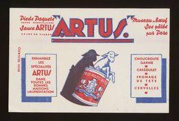 "Buvard - CONSERVES ""ARTUS"" - Buvards, Protège-cahiers Illustrés"