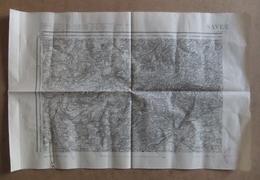 Carte Du Service Géographique Des Armées De Type 1889 - Saverne Et Ses Environs - Landkarten