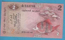 SRI LANKA CEYLON 2 RUPEES 26.03.1979 Serie A39 - Sri Lanka
