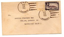 Carta Circulada De Gibraltar Matasello De Isherwood EEUU. - Gibraltar