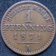 Germany Prussia 1/360 Thaler 1 Pfenning 1871 A - Piccole Monete & Altre Suddivisioni