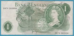 UK 1 POUND ND (1960-1977) Serie EW74  P# 374g - 1952-… : Elizabeth II
