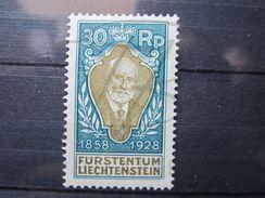 VEND BEAU TIMBRE DU LIECHTENSTEIN N° 84 , X !!! - Unused Stamps
