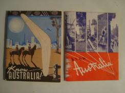 KNOW AUSTRALIA! - 1949 & 1951. B/W PHOTOS. MINT CONDITION. - Toeristische Brochures