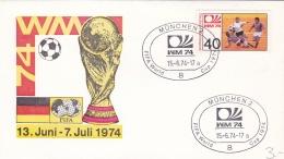 Germany Cover 1974 World Cup FIFA Football - München (DD6-17) - Coppa Del Mondo