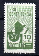 Viñeta   Nº 12 Pro Beneficiencia  Marruecos - Verschlussmarken Bürgerkrieg