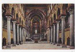 SICILIA - MONREALE - INTERNO DEL DUOMO -COLORATA  ANNI '20 - EDIZ. CESARE CAPELLO MILANO  - NUOVA NV - Italia