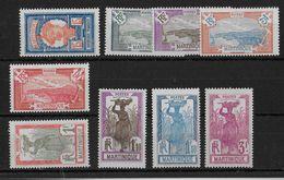 MARTINIQUE - YVERT N° 120/128 * CHARNIERE CORRECTE - COTE = 45 EUR. - Unused Stamps